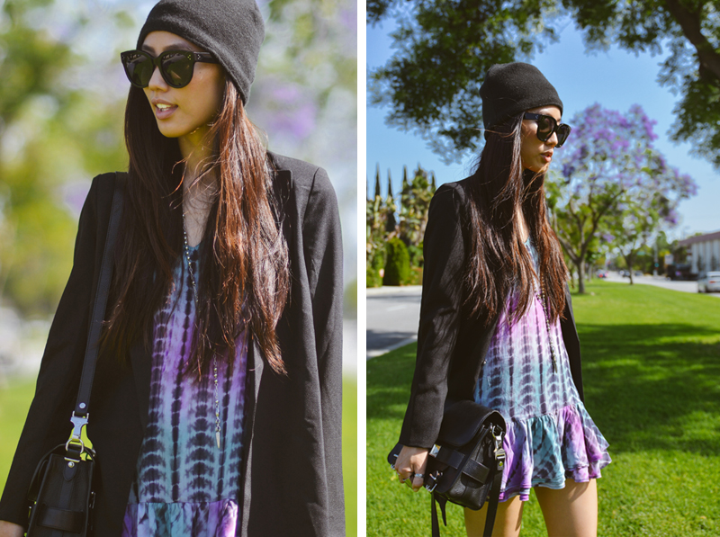 Neon Blush, tie dye dress, Lovers + Friends, Los Angeles style, casual style, personal style blogging