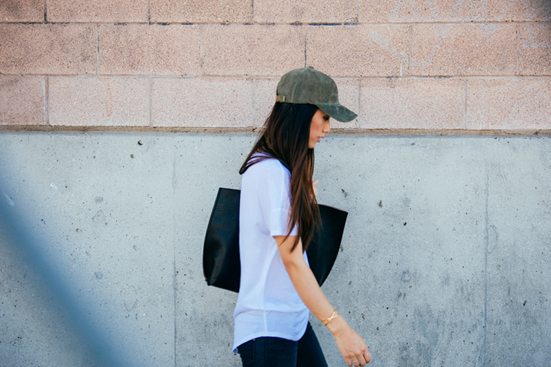 Neon Blush, ASOS leather cap, Shop Sosie suede cap, simple LA style