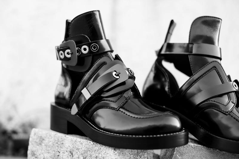 Neon Blush, Balenciaga cut out boots, Barneys NY, black boots