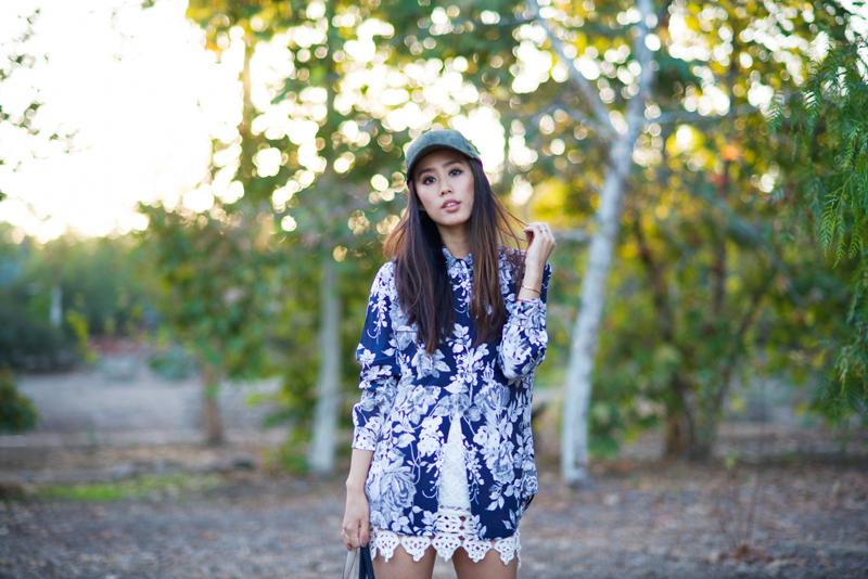 Neon Blush, autumn florals, fall florals, lace trimming, Equipment FR, Equipment silk blouses, floral silk blouse, suede caps, Shop Sosie, Rag & Bone Newbury boots, suede boots