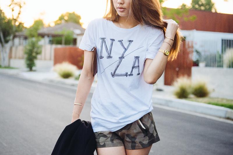 Neon Blush, QTee.com, NY/LA tee, NY to LA t-shirt, QTEE x Neon Blush
