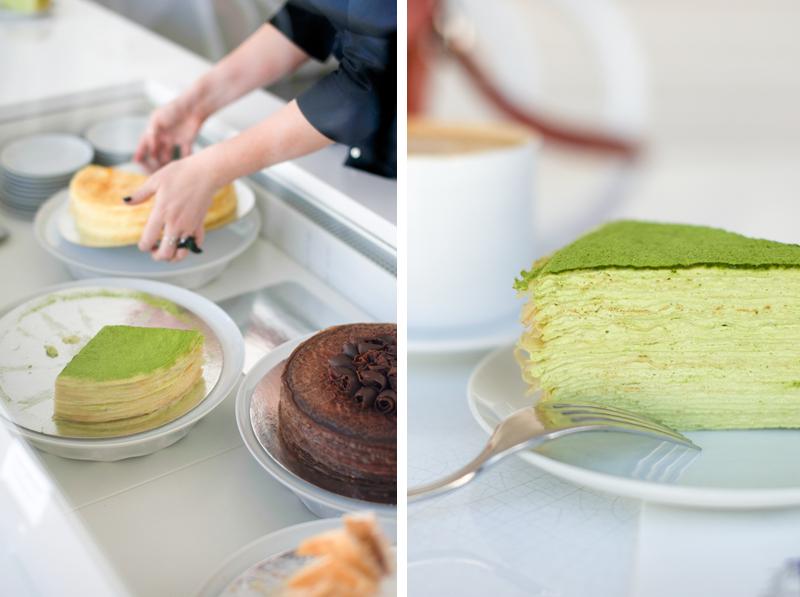Lady M Cake Boutique, Lady M crepe cake, matcha mille crepe, Mangeons